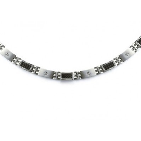 045a5b13c03 collier chaine de cou fantaisie homme acier et carbone
