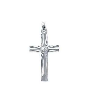 Pendentif croix argent massif diamantée