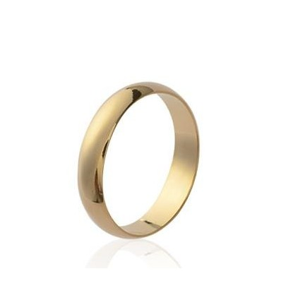 Alliance fantaisie bague plaqué or simple femme
