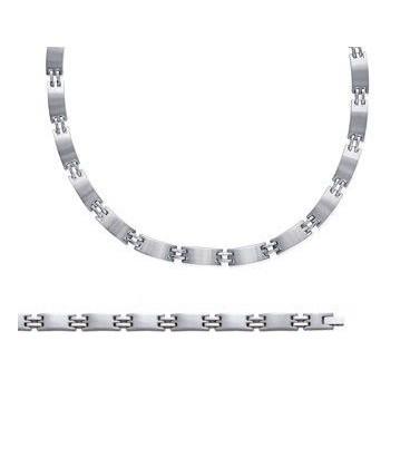 3d426425092 Collier homme chaine de cou acier brossé - homme-bijoux.fr