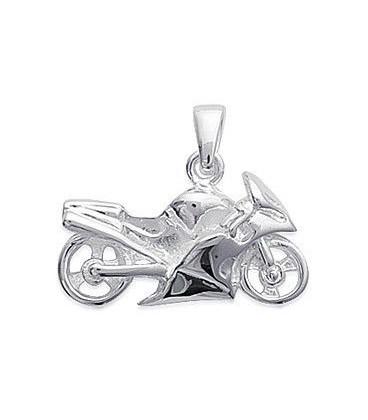 Pendentif plaqué or pour motard