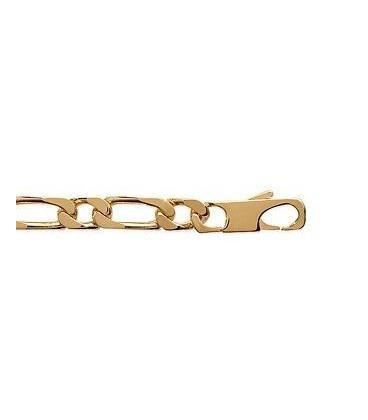 Bracelet gourmette plaqué or maillons figaro