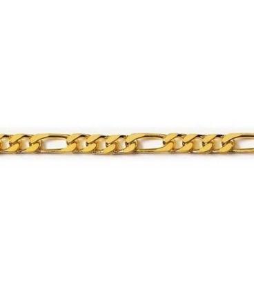 Collier chaîne de cou homme plaqué or maille figaro