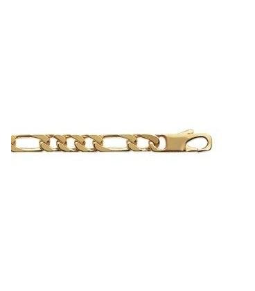 Bracelet gourmette homme plaqué or