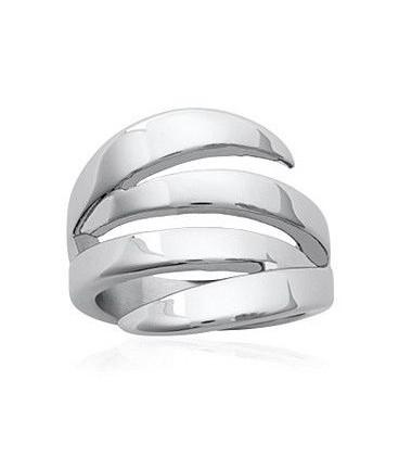 Bague fantaisie anneau acier en griffe
