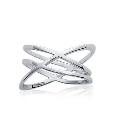 Bague homme trois anneaux argent massif entrelacé strès mode