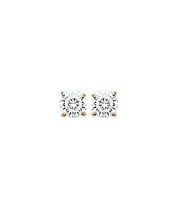 Clou d'oreille boucles d'oreilles plaqué or zirconium taillé diamant