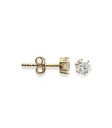 acheter populaire b038b 5d464 Clou d'oreille plaqué or zirconium taillé diamant